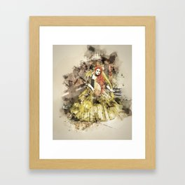 Madonna della Verde Watercolour Framed Art Print