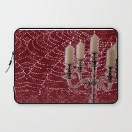 Red Damask Web Candelabra Laptop Sleeve