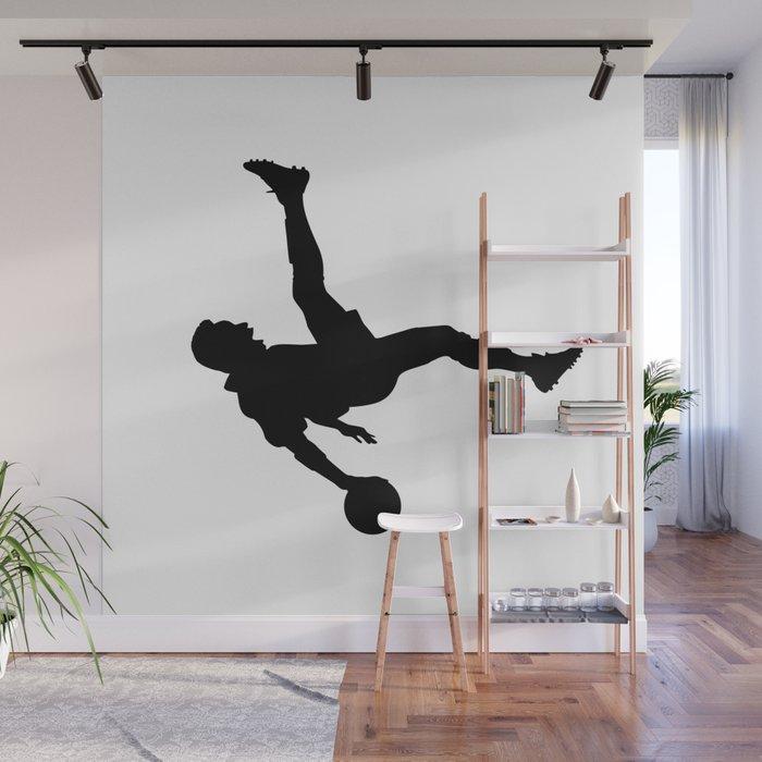 Football gym removable and reusable wall mural