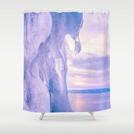 Ice cliff of Lake Baikal Shower Curtain