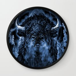 SPIRIT BUFFALO Wall Clock