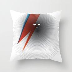Round Bowie Throw Pillow
