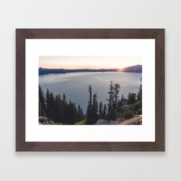 Lakeside Sunrise Framed Art Print