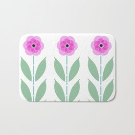 Pink Flower Trio Bath Mat