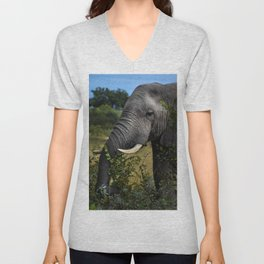 Elephant Early Morning Snack Unisex V-Neck