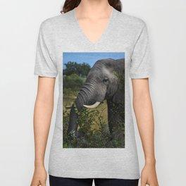 Elephant Early Morning Snack Unisex V-Neck