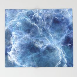 Blue storm Throw Blanket