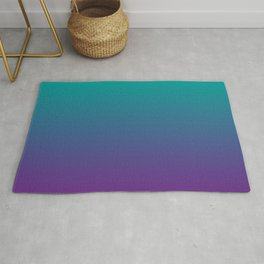 Ombre | Color Gradients | Gradient | Two Tone | Teal | Purple | Rug