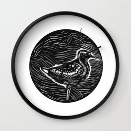 Golden Plover Standing Circle Tribal Art Wall Clock