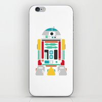 r2d2 iPhone & iPod Skins featuring R2D2 by John David Harris