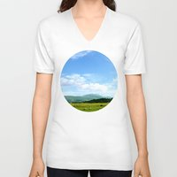 scotland V-neck T-shirts featuring Highlands Scotland by seb mcnulty