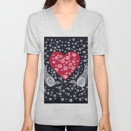 Valentine Birds Unisex V-Neck