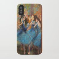 degas iPhone & iPod Cases featuring Blue Dancers by paulina anciola