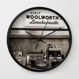 Woolworths Retail Photography Wall Clock