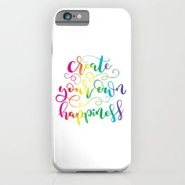 Create Your Own Happiness | Original Rainbow Palette iPhone Case