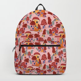 Mushroom Town Strawberry Pink Backpack