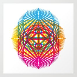 4 Corners of Abundance (wide) Art Print