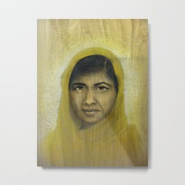 I am Inspired by Malala Metal Print