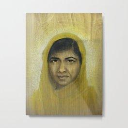 I am Inspired by Malala Metal Print
