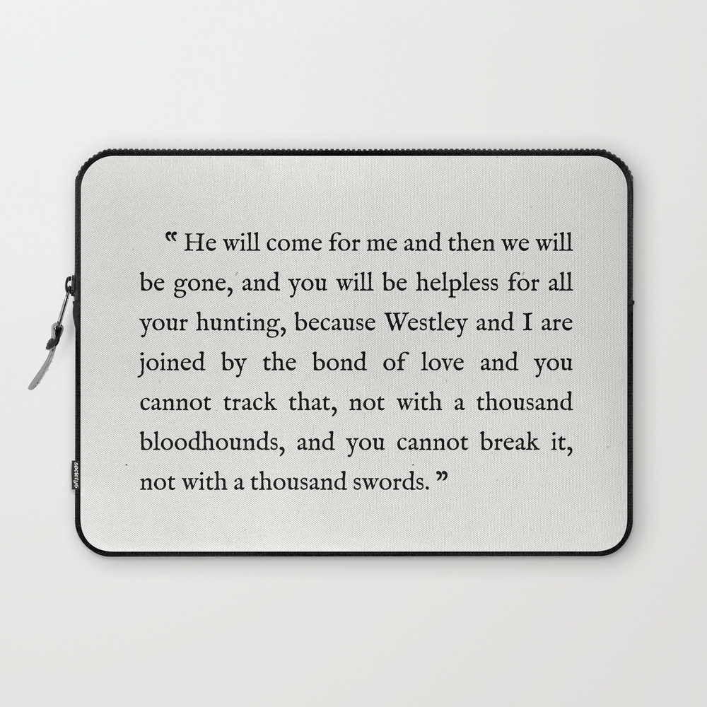 """Book Page - The Princess Bride """"""""the Bond Of Love"""""""" … Laptop Sleeve"""" LSV8643626"""