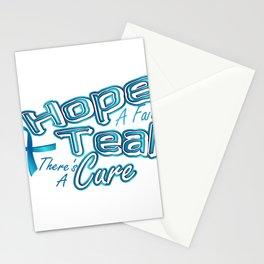 Hope A Faith Teal Ovarian Cancer Awareness Stationery Cards