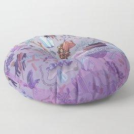 violet mountain dreams Floor Pillow