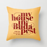 budapest Throw Pillows featuring Budapest by Lowso
