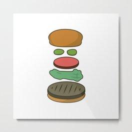 Bob's Burgers Hamburger Parts 2 Metal Print