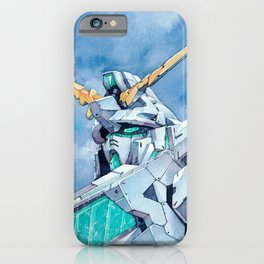 Unicorn Gundam Green Psycho-frame iPhone Case