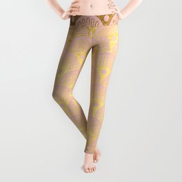 Gold and pink sparkling Mermaid pattern Leggings