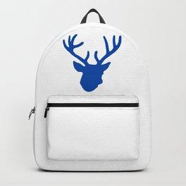Deer Head: Blue Backpack