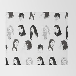 Keeping Up (Black and White) Throw Blanket