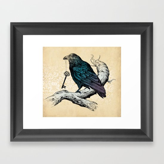 Raven's Key Framed Art Print