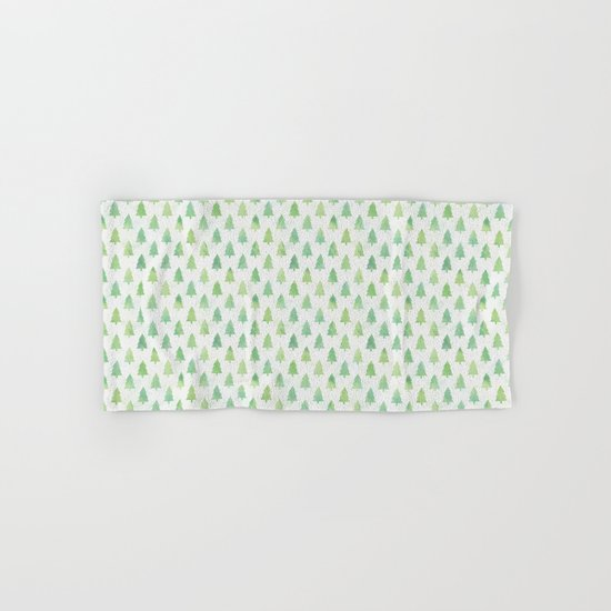 Simple Pine Tree Forest Pattern Hand & Bath Towel
