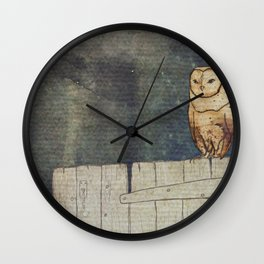 Whoo Goes There? Wall Clock