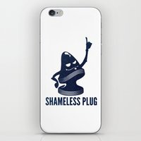 shameless iPhone & iPod Skins featuring Shameless Plug by John W. Hanawalt