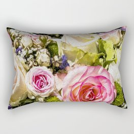Shabby Roses Rectangular Pillow