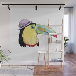 Toucan in a Bowler Hat Wall Mural