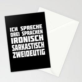 I Speak Three Languages Ironically ... Stationery Cards