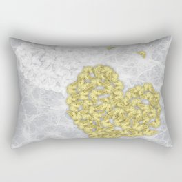 Hearts and ghosts of romance Rectangular Pillow