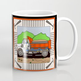 Job Site Construction Vehicles Coffee Mug