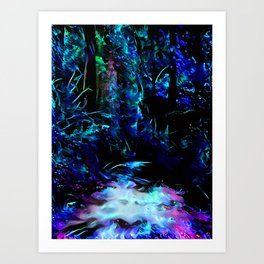 Blacklight Dreams of the Forest Art Print
