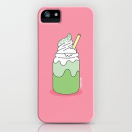 Matcha Smoothie iPhone Case