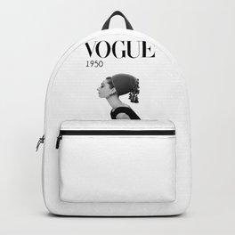 A digitally repainted  1950 Hepburn's Magazine cover Backpack