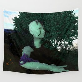 Gaia's Portrait Wall Tapestry