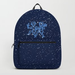 Gemini Constellation and Zodiac Sign with Stars Backpack