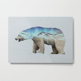 The Arctic Polar Bear Metal Print