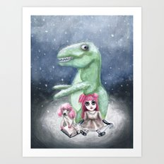 Kimmy and Rex Art Print