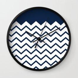 cheveron blue Wall Clock