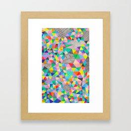 A Geometric Abstract Framed Art Print